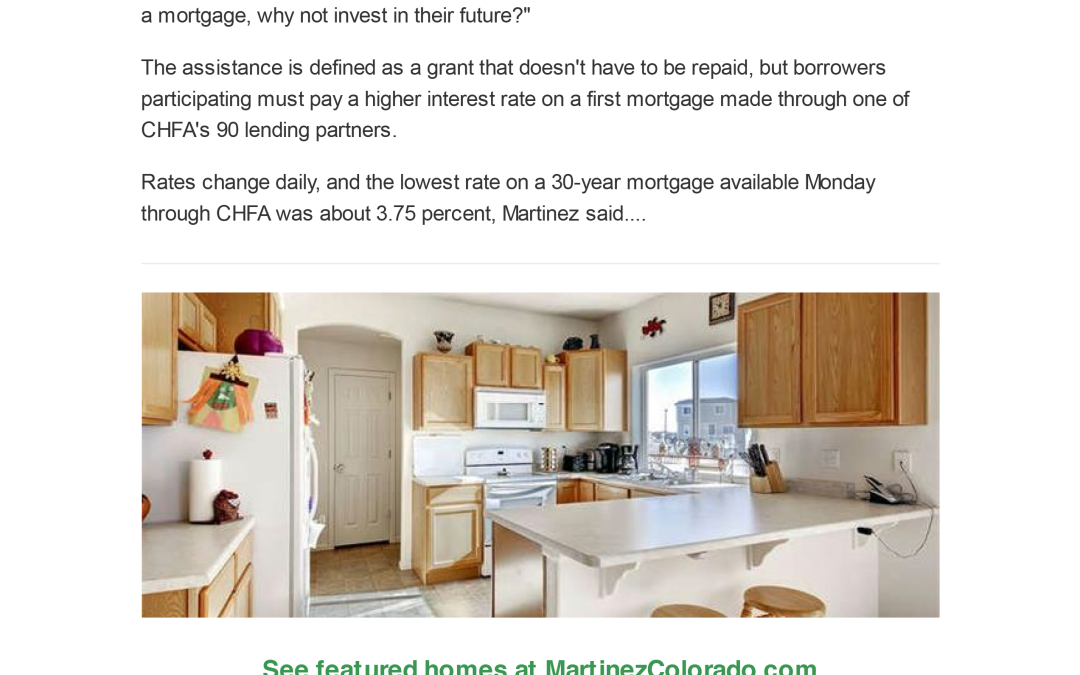 🏡 CHFA restarts down payment assistance grants, targets Millennials!